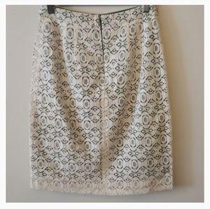 Anthropologie brand Edme & Esyllte lace skirt